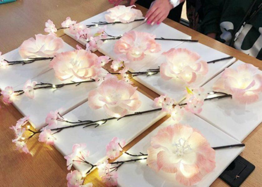 벚꽃 무드등 만들기