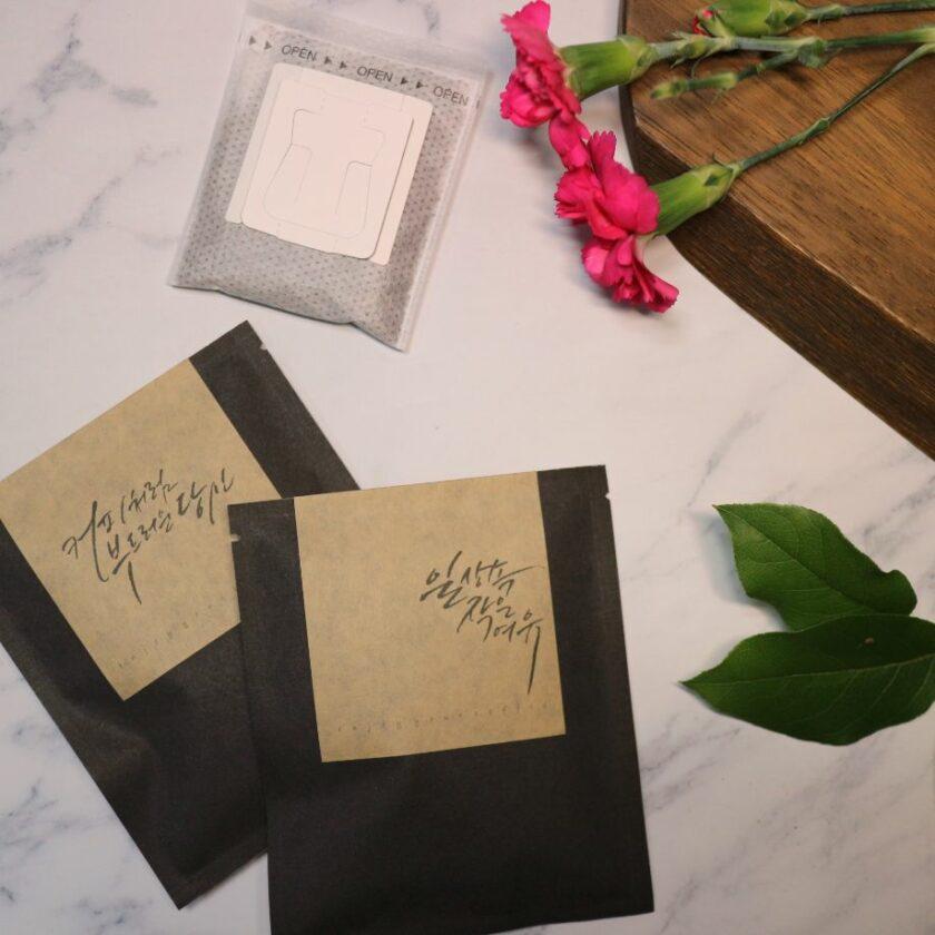 calligraphy drip bag 11 | 이너트립